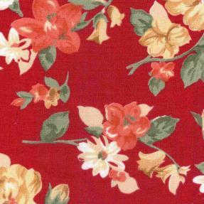 Floral pattern on red