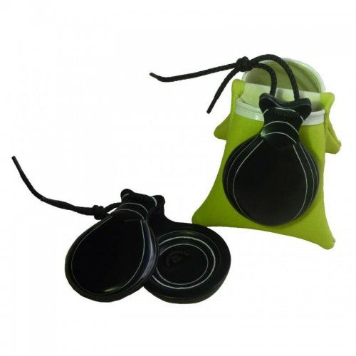 https://www.flamencista.com/Castanuelas del Sur Model Fibra Veteada Blanca Double Sound Box with Peak