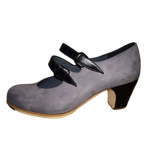 https://www.flamencista.com/Zapatos de Don Flamenco Modelo Tablao Combinado