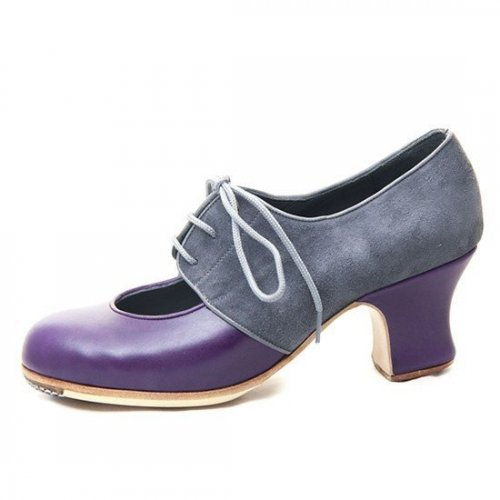 https://www.flamencista.com/Zapatos de Don Flamenco Modelo Malagueña Combinado