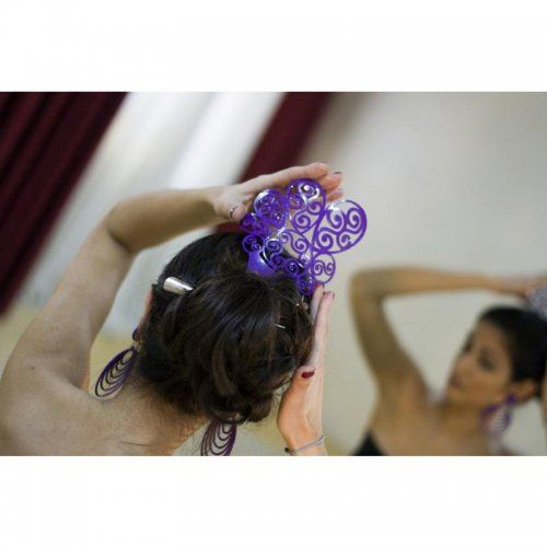 Flamenco Hair Comb: Acetato Purple – Model 1557