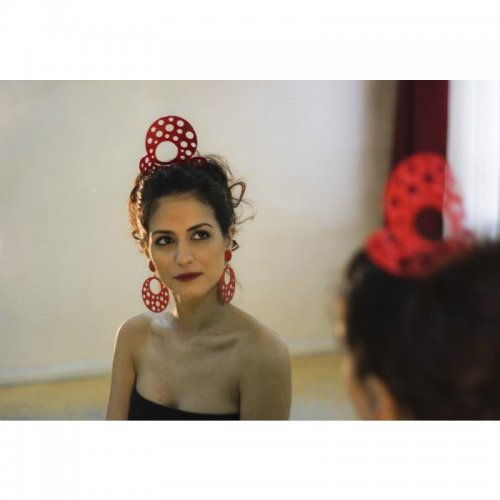 Flamenco Hair Comb: Acetato Red – Model 1540