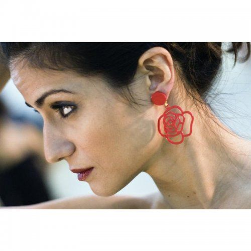 Flamenco Earrings Model La Rosa