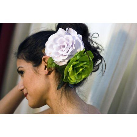 Flamenco Flower Model Buleria in Lime Green