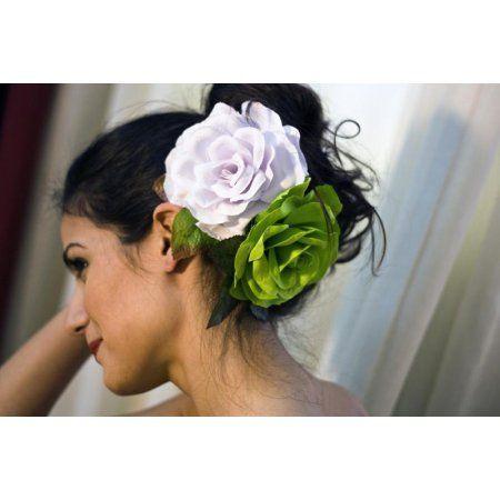 Λουλούδι Flamenco Μοντέλο Buleria σε Πράσινο Χρώμα Lime