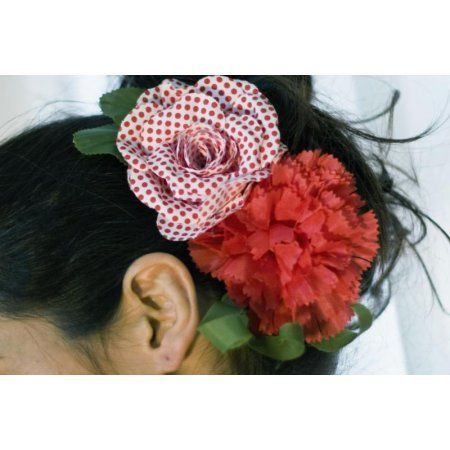 Flamenco Flower Model Gitana in Red