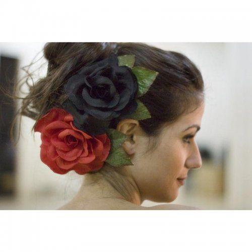 Flamenco Flower Model Buleria in Red