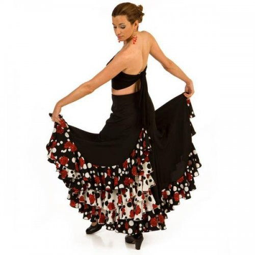 Flamenco Performance Skirt  Model CARACOLES