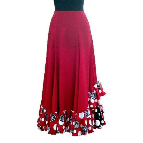 Flamenco Performance Skirt  Model CARACOLES-2