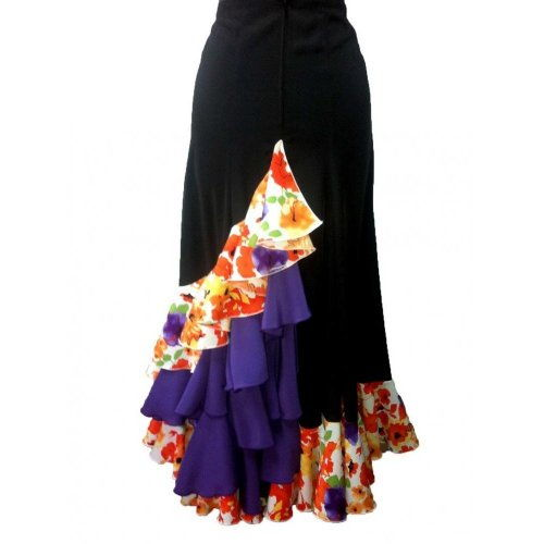 Falda Flamenca de Actuación Mod CARACOLES-2