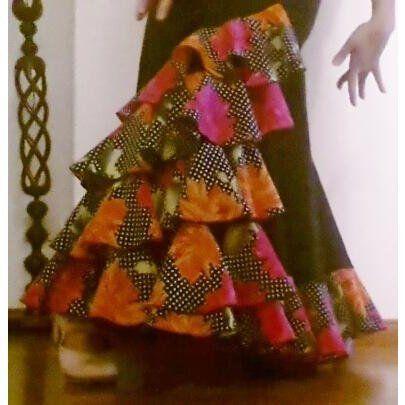 Φούστα Flamenco για παραστάσεις Mοντέλο CARACOLES-5