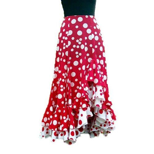 Flamenco Performance Skirt Model TARANTOS