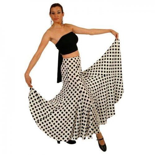 https://www.flamencista.com/Flamenco Performance Skirt Model Girasol