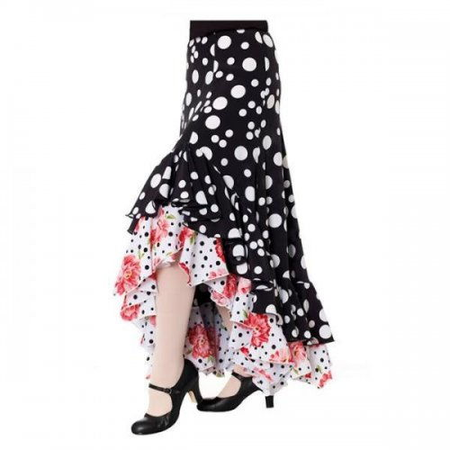 https://www.flamencista.com/Flamenco Performance Skirt Model TARANTOS