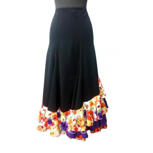 Flamenco Performance Skirt  Model CARACOLES