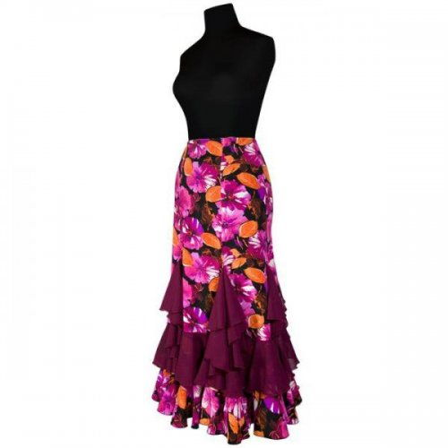 https://www.flamencista.com/Flamenco Performance Skirt Model TRIANA E