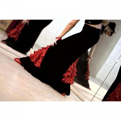 Flamenco Skirt for Practice sessions Model CARMIN III-3