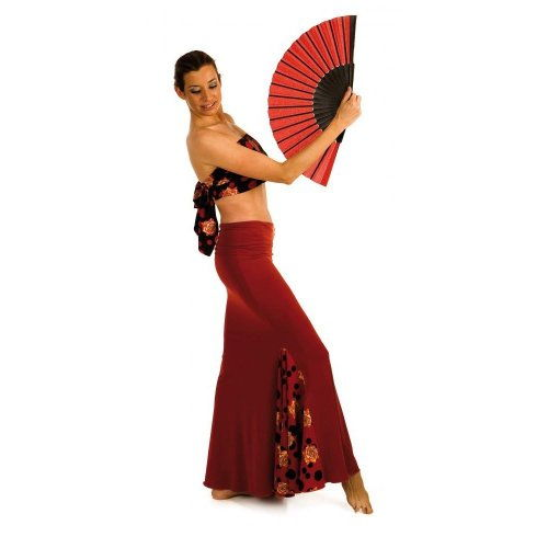 https://www.flamencista.com/Flamenco Skirt for Practice Sessions Model AZABACHE V