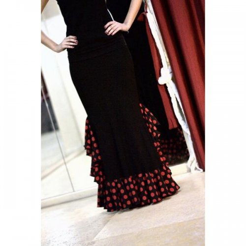 Flamenco Skirt for Practice sessions Model AZABACHE II-2
