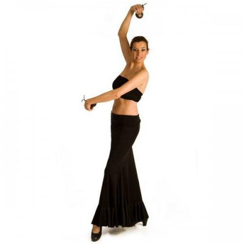 https://www.flamencista.com/Flamenco Skirt for Practice sessions Model AZABACHE I