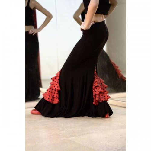 https://flamencista.com/Flamenco Skirt for Practice sessions Model CARMIN III