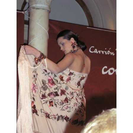 Flamenco Silk Shawl Model Manuela 08
