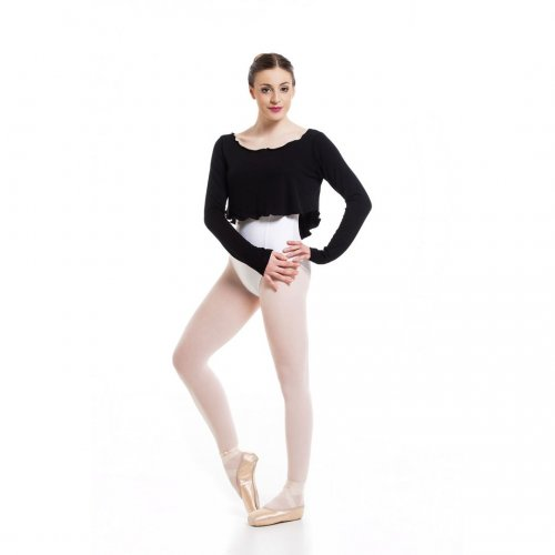 Knit long sleeve short top for ladies Sheddo model PA 011200