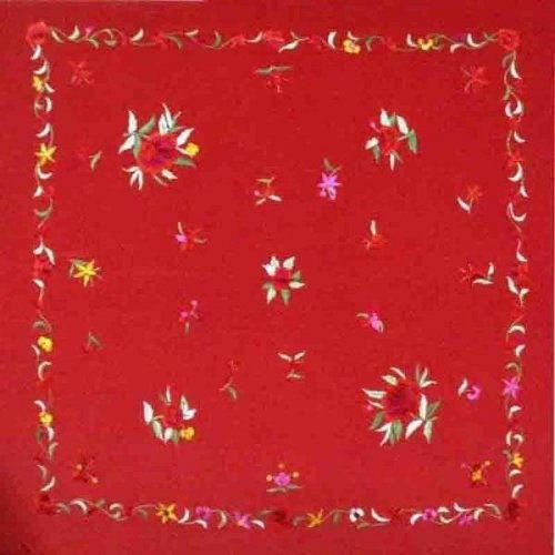 Flamenco Shawl Model 400-S Red Print
