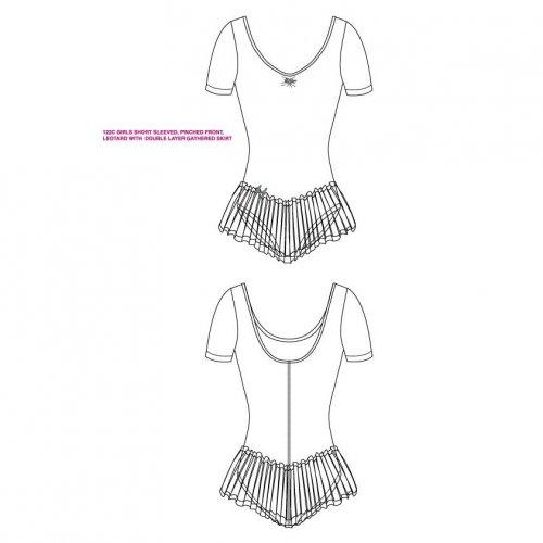 Leotard dress for girls Sheddo Model 1122C-3