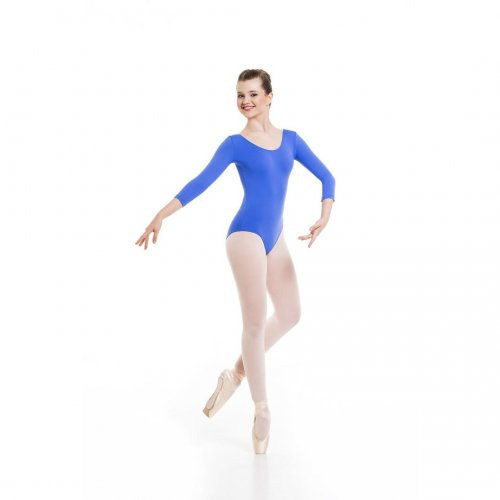 A 3/4 sleeved leotard for ladies Sheddo model 403W