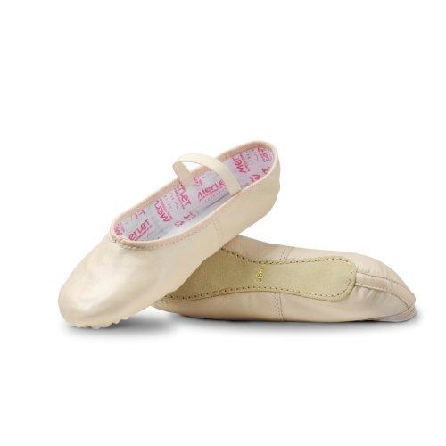 Full sole leather ballet shoe for children Merlet Model Eclat 1-3