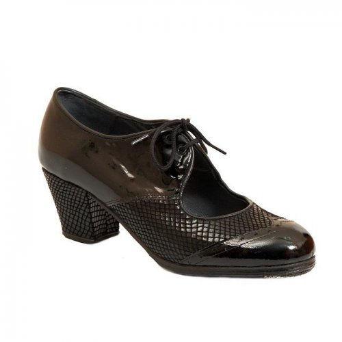 Professional Flamenco Shoes Model Chapin Charol Serpiente