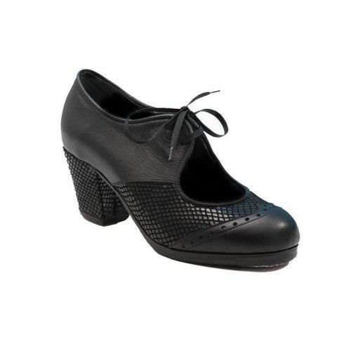 Professional Flamenco Shoes Model Chapin Serpiente  ¨a compás¨ Black