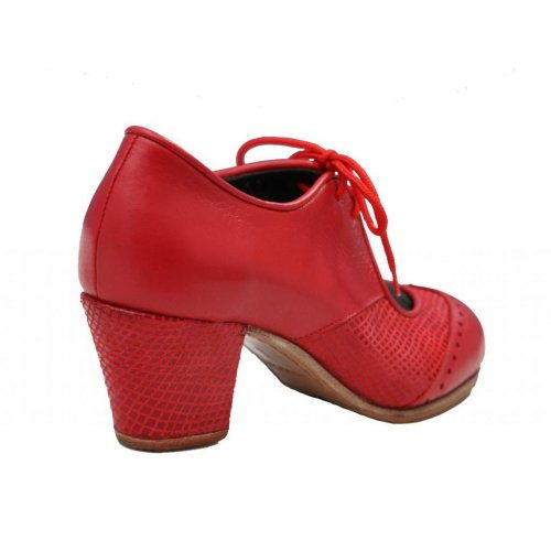 "Professional Flamenco Shoes Model Chapin Serpiente ""'a compás"" Red"