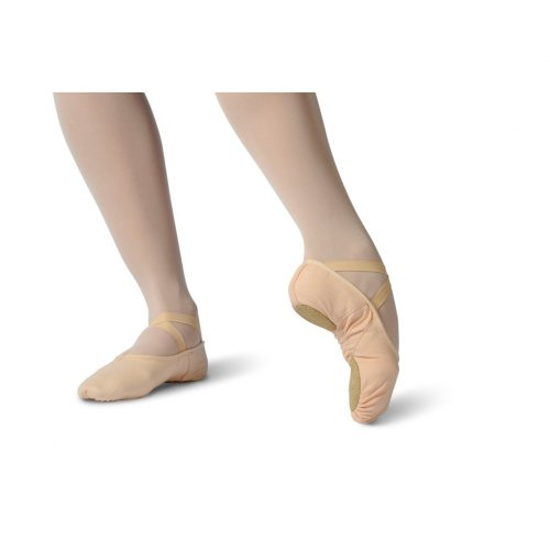 Split sole soft ballet shoe with elasticated binding for children Merlet model Sophia-3