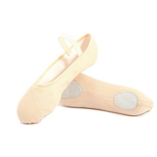 Split sole soft ballet shoe with elasticated binding for women Merlet model Sylvia-