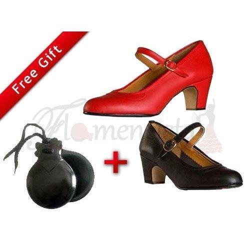 Παπούτσια Φλαμένκο και Καστανιέτες για αρχάριους + Δωρεάν Δώρο!