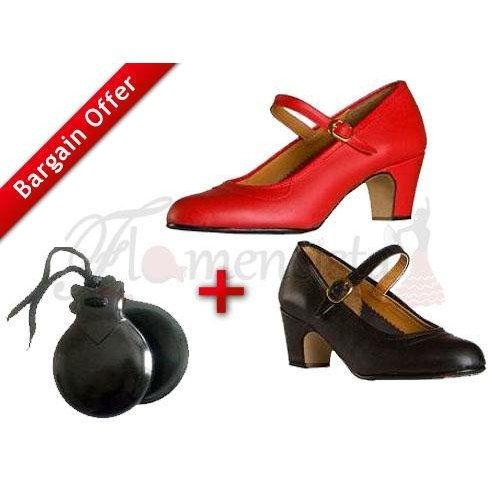 Παπούτσια Φλαμένκο και Καστανιέτες για αρχάριους + 10% επιπλέον έκπτωση!